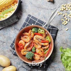 10-Piece Copper Ceramic Induction Compatible Nonstick Pots and Pans Set kitchen
