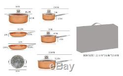11 Pieces Copper Cookware Set non stick fry pans saucer pot stockpot saucer pan