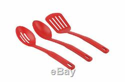 12-Piece Ceramic Cookware Set Nonstick Pots Pans Kitchen Tools Red Ombre Teal