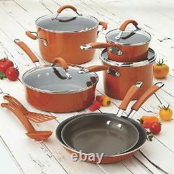 12 Piece Rachel Ray Cookware Set Nonstick Pots Pans Lids Non Stick Kitchenware
