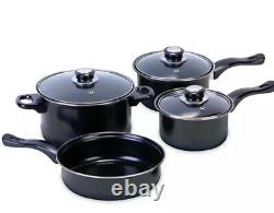 13PCS Induction Pan Set Saucepan Set Cookware Pot Stainless Steel With Glass Lid