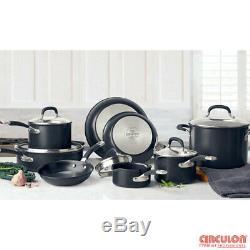 13 PC Cookware Set Saucepan Stockpot Lid Skillet Non Stick Pots Pan Set in Black