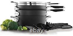 14 Piece Cookware And Utensil Set Hard Anodized Nonstick Pots And Pans