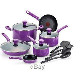 14-Piece Cookware Pots Pans Set T-Fal 14-Piece Excite Non-Stick Dishwasher Safe