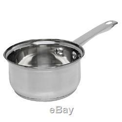 14cm Milk Pan Stainless Steel Handle Saucepan Milkpan Brushed Kitchen Cookware