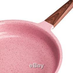 16PC Ceramic Coated Cookware Set Non Stick Frying Pan Saucepan Set Induction Pot