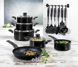 17-Pcs BEEM Aluminum Cookware Set Pots & Pan incl. 7-Pcs Kitchen Aid Set NEW