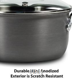 17 Pieces Cooking Set Pots Pans Titanium Nonstick Red Thermo-Spot T-fal Cookware