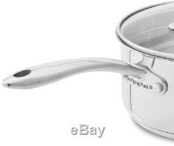 18-Piece Cookware Set kitchen Nonstick Stainless Steel Lid Frying Pan Pots Pans