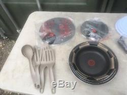 20 Pc Tefal Ingenio Non Stick Essential Saucepan Frying Pan Set Blackcurrant