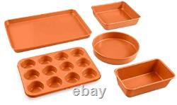 20 Piece Cookware + Bakeware Set with Nonstick Durable Ceramic Copper Coating