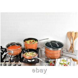 21 Piece Aluminum Cookware Set Nonstick Ceramic Pan Pot Kitchen Cooking Utensil