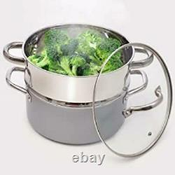 23pc Copper Pots and Pans Set Ceramic Cookware Kitchen Sets Nonstick Induction