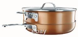 2874 Gotham Steel Stackmaster 10 Piece Pan Set, Copper Colour