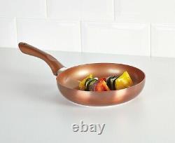 2 PCS Frying Pan Set URBN-CHEF Metal Ceramic Copper Induction Cooking Saucepan