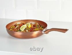 3 PC Metallic URBN-CHEF Ceramic Copper Induction Cooking Frying Pan Cookware Set