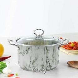 4pc Non Stick Casserole Stockpot Cooking Pot Pan Set Induction Base With Lids