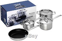 4pc QUALITY Stainless Steel Kitchen Cookware Set Saucepan, Non-Stick Frying Pan