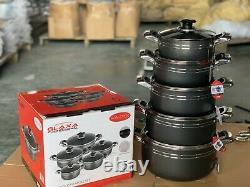 5pcs NonStick Coating Stock Pot Deep Casserole Set Cooking Pot set 18cm to 26cm