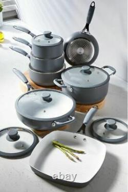 7 Piece Professional Non Stick Cookware Set Cooking Saucepan Pot Frying Pan NEW