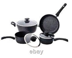 7pcs Cookware Set Pan Pot Non Stick Saucepans Frying Pan Cookware Set Glass Lid
