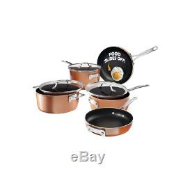 8 Pc Stackmaster Ultra Nonstick Cookware Set Stackable Pots Pans Dishwasher Safe
