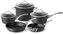 8 Piece All Purpose Cookware Set Nonstick Aluminum Pots Pans with Glass Lid Gift