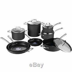 AMERICOOK Black, 13 Piece Hard Anodized Pots and Pans Set Non-Stick standard