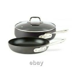 All-Clad Anodized Nonstick Cookware Set, 2 piece Fry Pan & Sauté Pan with lid