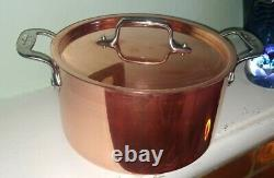 All-Clad Copper 2 Piece Cookware Pan Stainless Steel Handcrafted 4 qt VGC