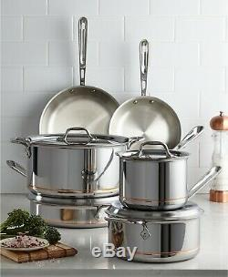 All-Clad Copper Core Stainless 10-Pc Cookware Set Pan Pots NEW $1,725 USA Made