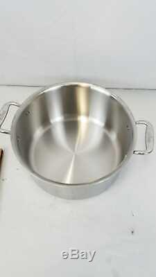 All Clad D3 Stainless Cookware Set Pots Pans Tri-Ply Stainless Steel 10 Piece