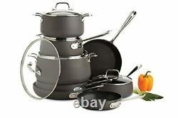All-Clad E785SB64 HA1 Hard Anodized Nonstick Cookware Set, Pots and Pans Set, 13