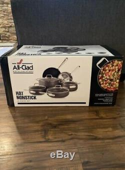 All Clad HA1 Non Stick 10 Piece Pots And Pan Set Retail $799