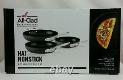 All-Clad HA1 Nonstick 3 Piece Fry Pan Set Hard Anodized Nonstick 8 10 & 12