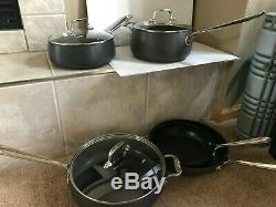 All-Clad Nonstick Cookware 8 Piece Pots/Pans Set Hard Anodized