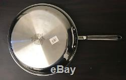 All-Clad d5 Brushed Stainless-Steel Nonstick Fry Pans (2pc set) 10 12