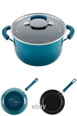 Aluminium Nonstick Cookware Set 15-Piece Pots Pans Cooking Kitchen Home Blue New