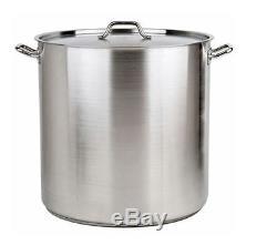 Aluminum Stock Pot Set, 20 24 32 40 52 Quart Non-stick Large Pots Pans 5 Pcs New