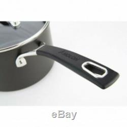 Analon 5 Piece Non-Stick Black Saucepan /Skillet Set Induction /Oven Friendly