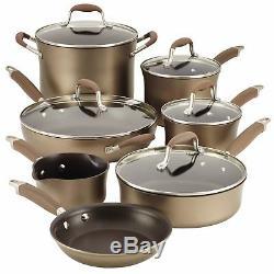 Anolon Advanced Bronze 12pc Nonstick Cookware Set