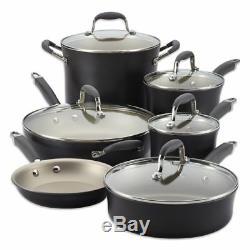 Anolon Advanced Pewter/Grey 11 Piece Cookware Set pots and pans