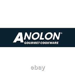 Anolon Synchrony 5 Piece Pan Set Non-Stick Dishwasher Safe, Hard Anodized, Grey