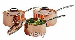 Argos Home 3 Piece Copper Triply Pan Set