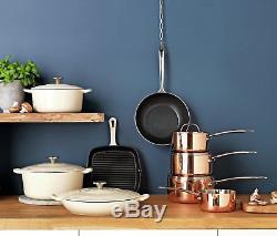 Argos Home 5 Piece Stainless Steel Non-Stick Pan Set -Copper
