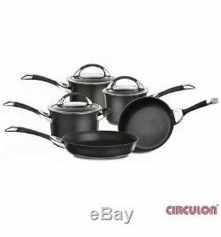BNIB Circulon Symmetry Hard Anodised 8 Non-Stick Induction 5 pan Cookware Set