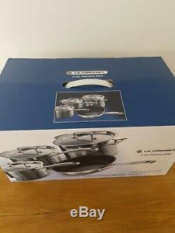BNIB Le Creuset 4Piece 3 Ply Stainless Steel Set