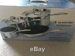 BNIB Le Creuset 4Piece 3 Ply Stainless Steel Set RRP £490