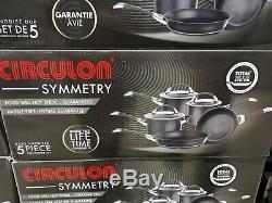 BN Circulon Symmetry Hard Anodised 8 NonStick Induction 5 pan Piece Cookware Set