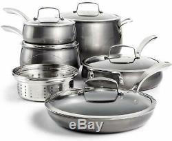 Belgique Aluminum Nonstick Cookware 11 Piece Set New Gray Bell shape Pots & Pans